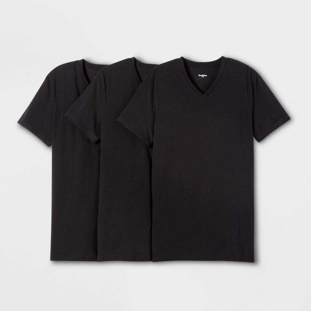 Low Price Men Premium V Neck T Shirt Goodfellow Co Black 2XL