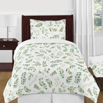 4pc Twin Botanical Leaf Bedding Set - Sweet Jojo Designs