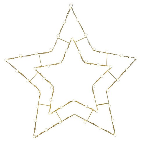 "48"" Star Lit Wire Christmas Decoration- C7 Bulbs White - image 1 of 1"