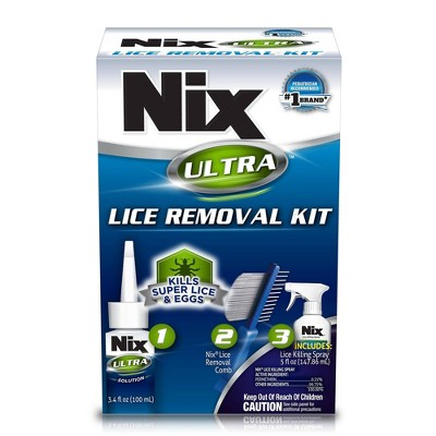 Nix Ultra Super Lice Removal Kit Lice Removal Treatment For Hair and Home - 3ct