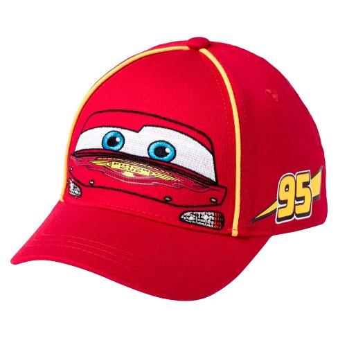 Toddler Boys  Cars® Lightning McQueen Baseball Hat - Red   Target bc2fdd58f9d9