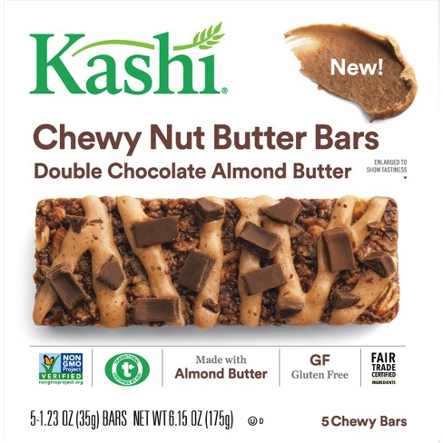 Kashi Double Chocolate Almond Butter Chewy Nut Butter Bars - 5ct - image 1 of 4