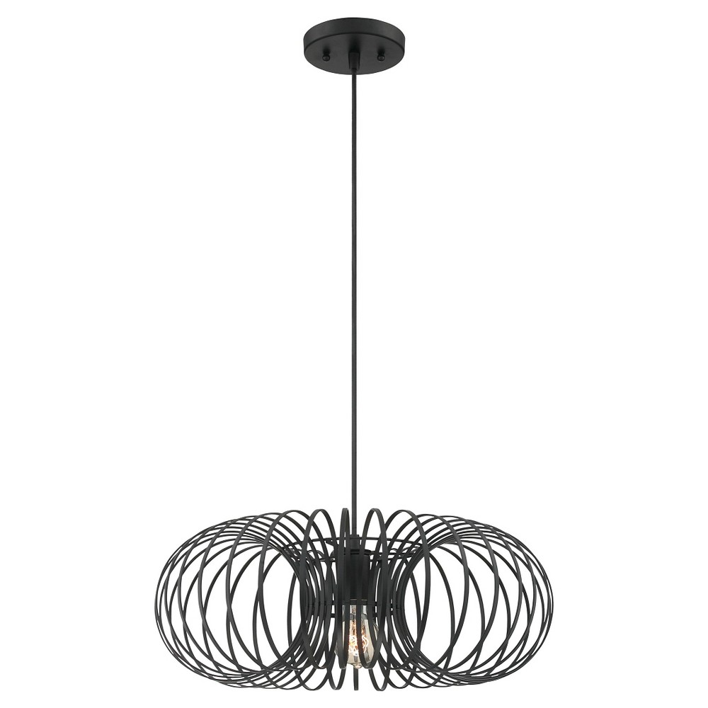 Walworth 1 Light Pendant - Black Finish (19)
