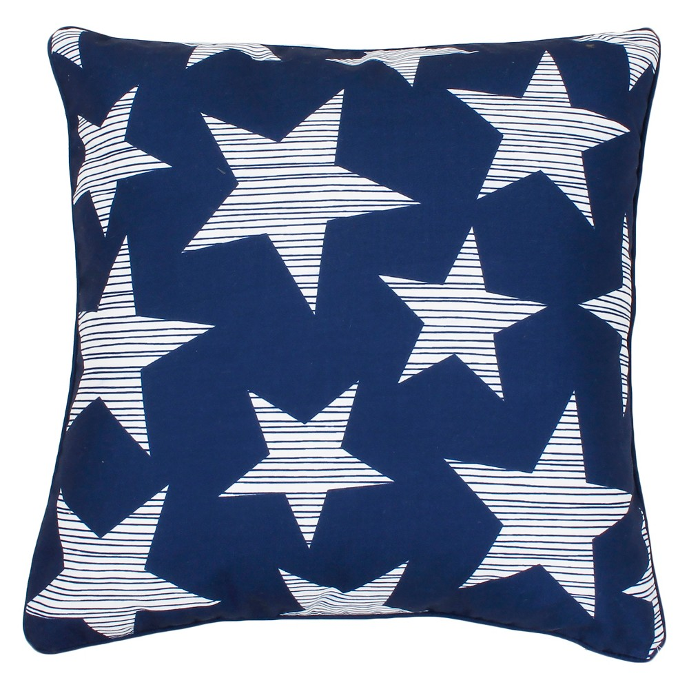 """Image of """"Décor Therapy 20""""""""x20"""""""" Star Spangled Throw Pillow Blue/White"""""""