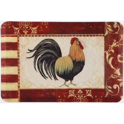 "Home Dynamix 24"" x 36"" Rooster Kitchen Mat Red"