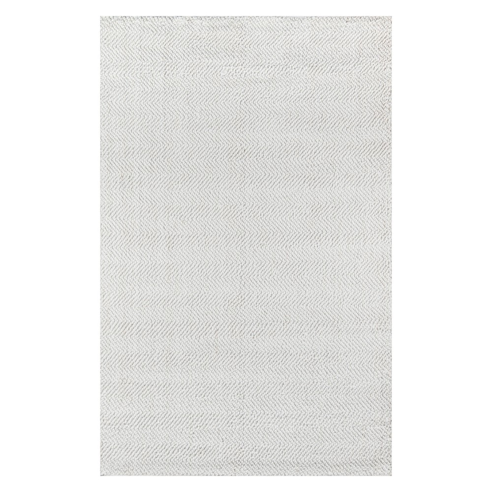 5'X8' Solid Woven Area Rug Ivory - Erin Gates By Momeni