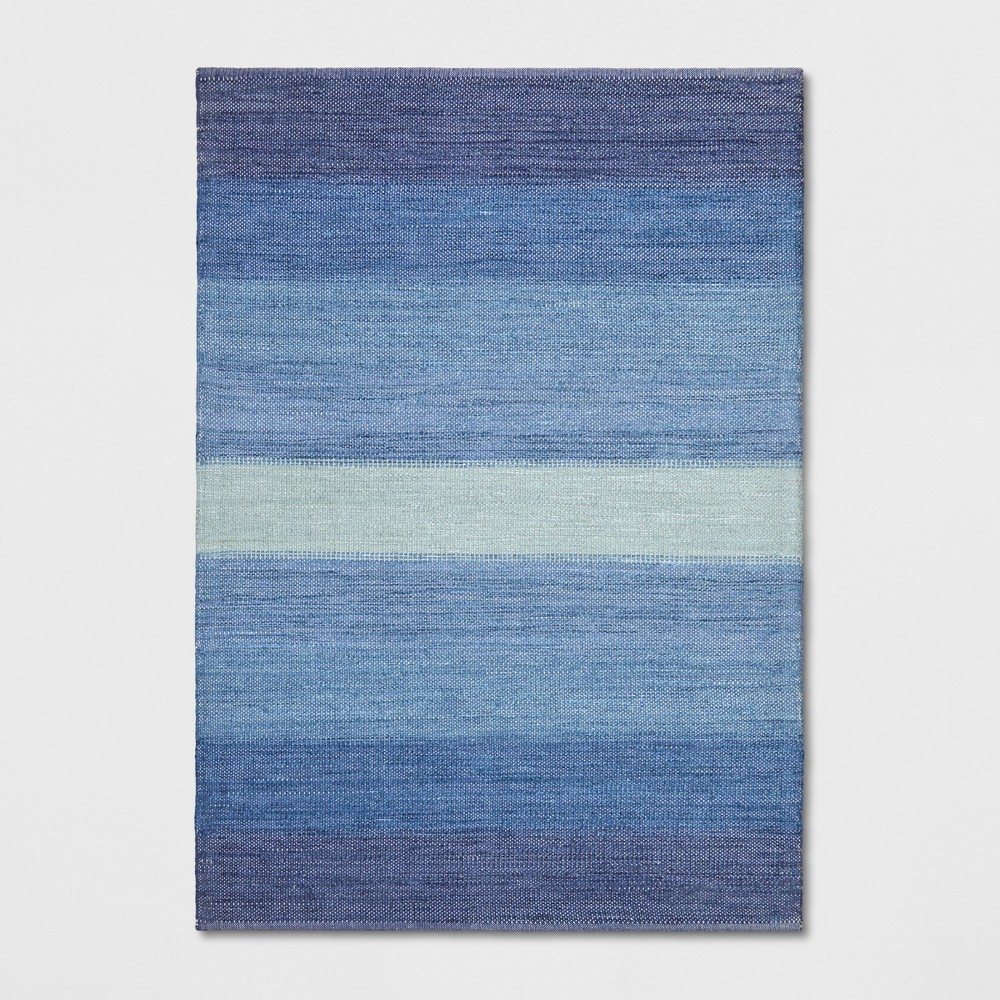 7'X10' Stripe Woven Area Rugs Blue - Threshold