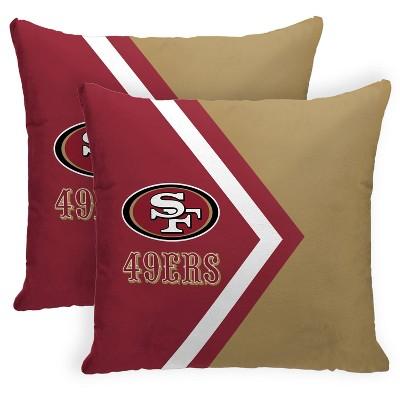 NFL San Francisco 49ers Side Arrow Poly Span Throw Pillow - 2pk