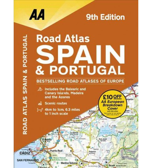 AA Road Atlas Spain & Portugal -  (Paperback) - image 1 of 1
