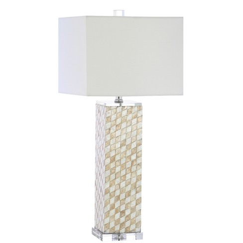 Daniel Seashell Or Crystal LED Table Lamp Beige (Includes Energy Efficient Light Bulb) - JONATHAN Y - image 1 of 4