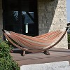 Vivere 8 ft Double Sunbrella Hammock with Solid Pine Arc Stand - image 2 of 4