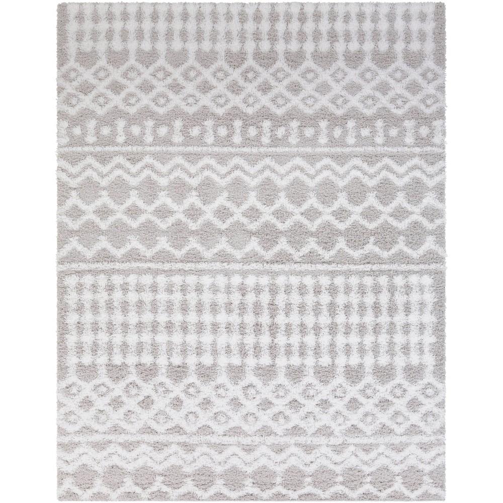 7 39 10 34 X10 39 2 34 Pinnacle Shag Global Rug Gray Artistic Weavers