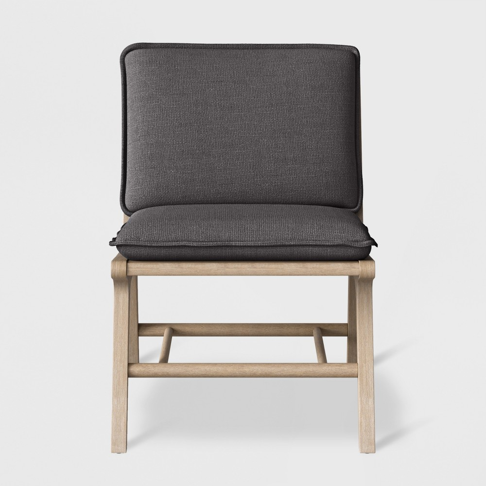 Lincoln Cane Chair with Upholstered Seat - Charcoal (Grey) - Threshold