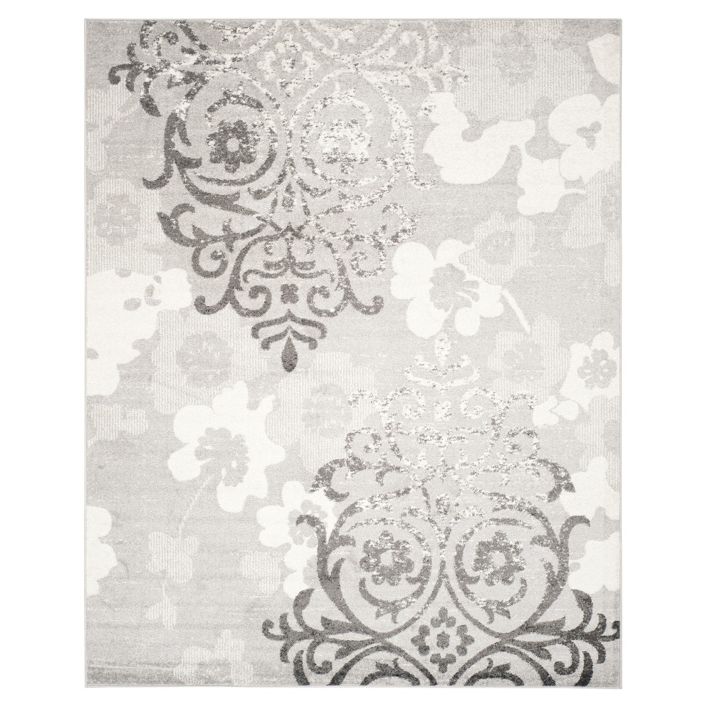 Silver/Ivory Swirl Loomed Area Rug 11'X15' - Safavieh