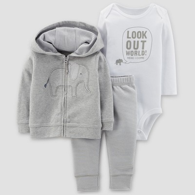 Baby Boys' Elephant 3pc Set - Just One You® made by carter's Gray 9M