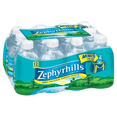 Zephyrhills Brand 100% Natural Spring Water - 12pk/8 fl oz Mini Bottles - image 1 of 2
