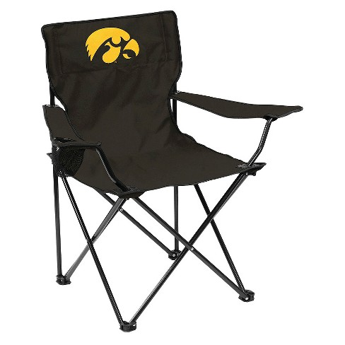 Pleasing Iowa Hawkeyes Quad Folding Camp Chair With Carrying Case Beatyapartments Chair Design Images Beatyapartmentscom