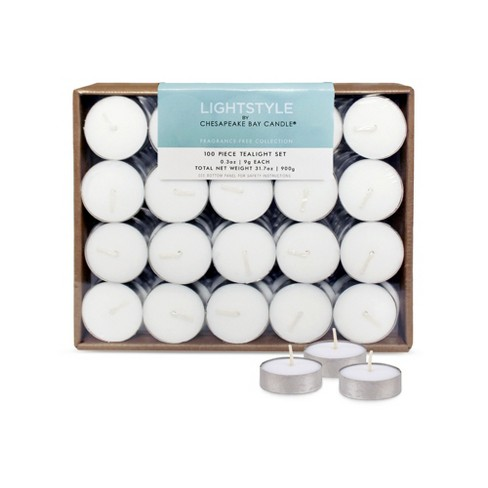 Fragrance Free Tea Lights 100ct - Chesapeake Bay Candle - image 1 of 1