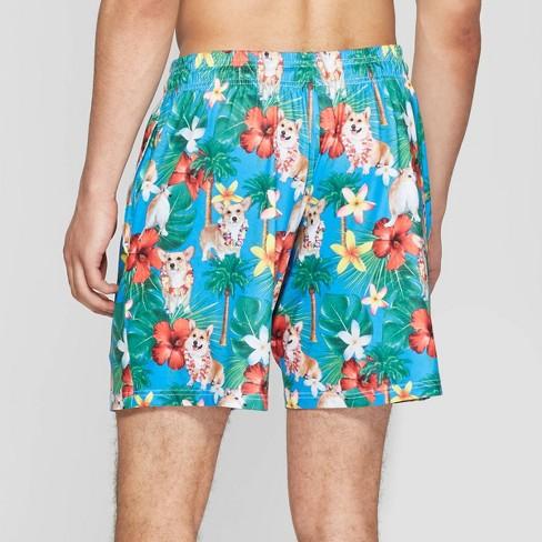 3a898a5a730fe Men's Corgi Hawaii Pajama Shorts - Teal : Target