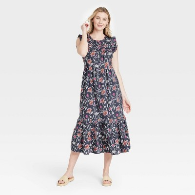 Women's Floral Print Ruffle Sleeveless Dress - Universal Thread™