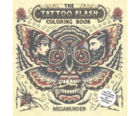 Tattoo Flash Coloring Book Paperback Target