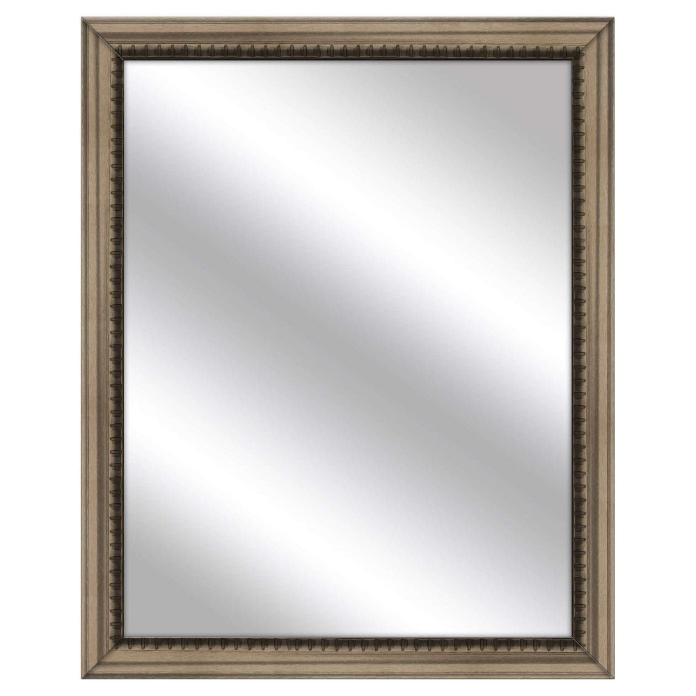 Decorative Wall Mirror Ptm Images Dark Silver