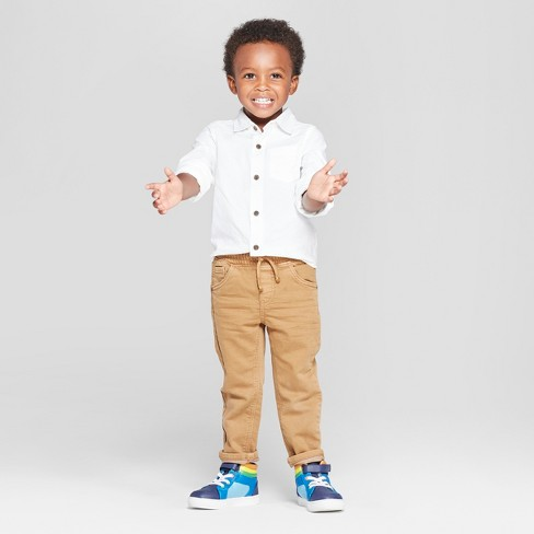aac506b25e6 Toddler Boys  Long Sleeve Oxford Button-Down Shirt - Cat   Jack™ White    Target