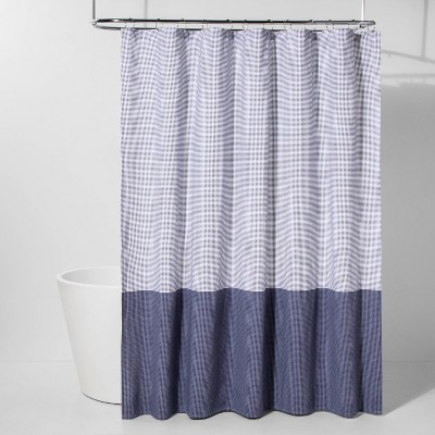 Colorblock Dot Shower Curtain Blue - Project 62™