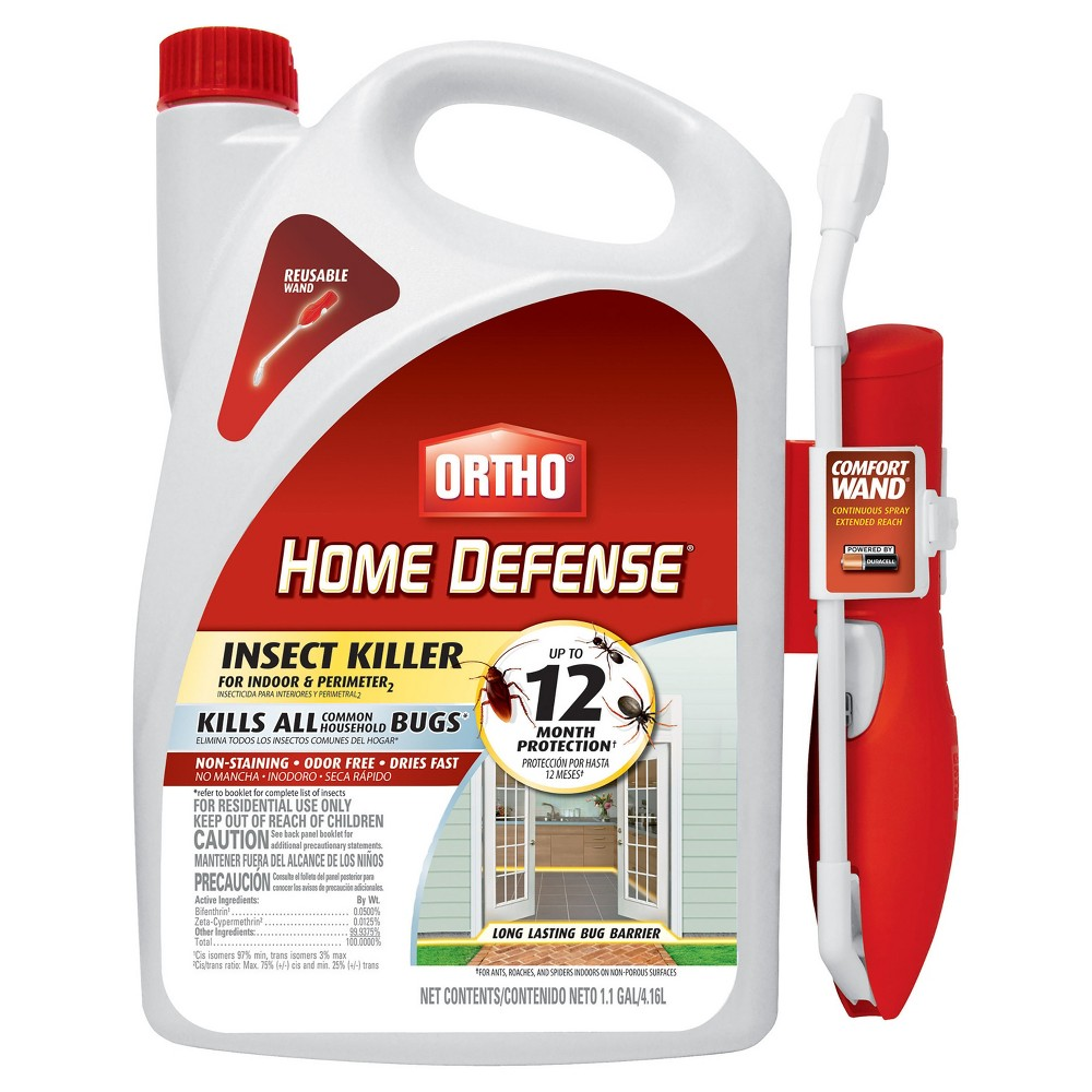 Image of Ortho Home Defense Indoor & Perimeter Insect Killer 1.1 Gallon Ready to Use Wand