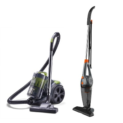 Black and Decker 3 In 1 Convertible Corded Upright Handheld Vacuum Cleaner Bundle with Bagless Canister Vacuum Cleaner with HEPA Filter
