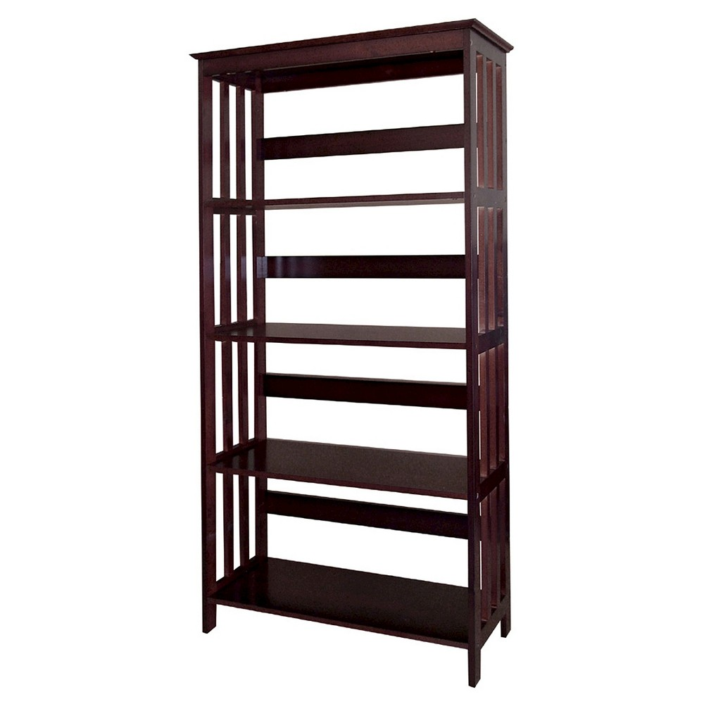 """Image of """"60"""""""" 4 Tier Bookcase Cherry - Ore International, Brown"""""""