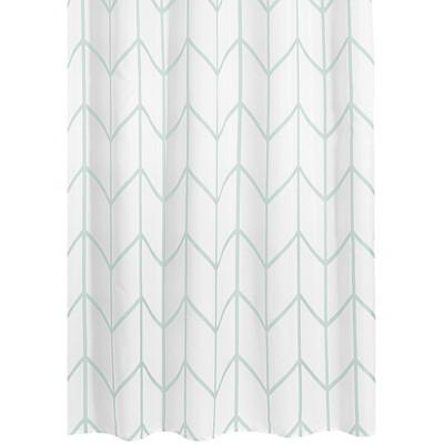 mDesign Modern Decorative Geometric Herringbone Print Shower Curtain
