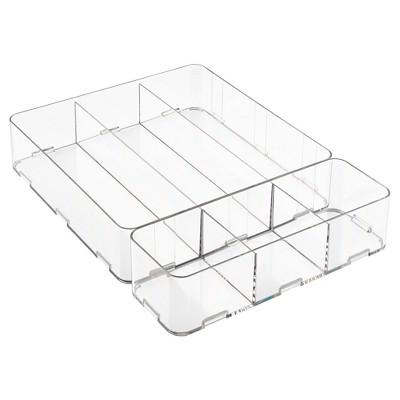 2pc Drawer Organizers Clear - InterDesign