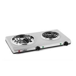 Salton Portable Cooktop Double Burner - Silver