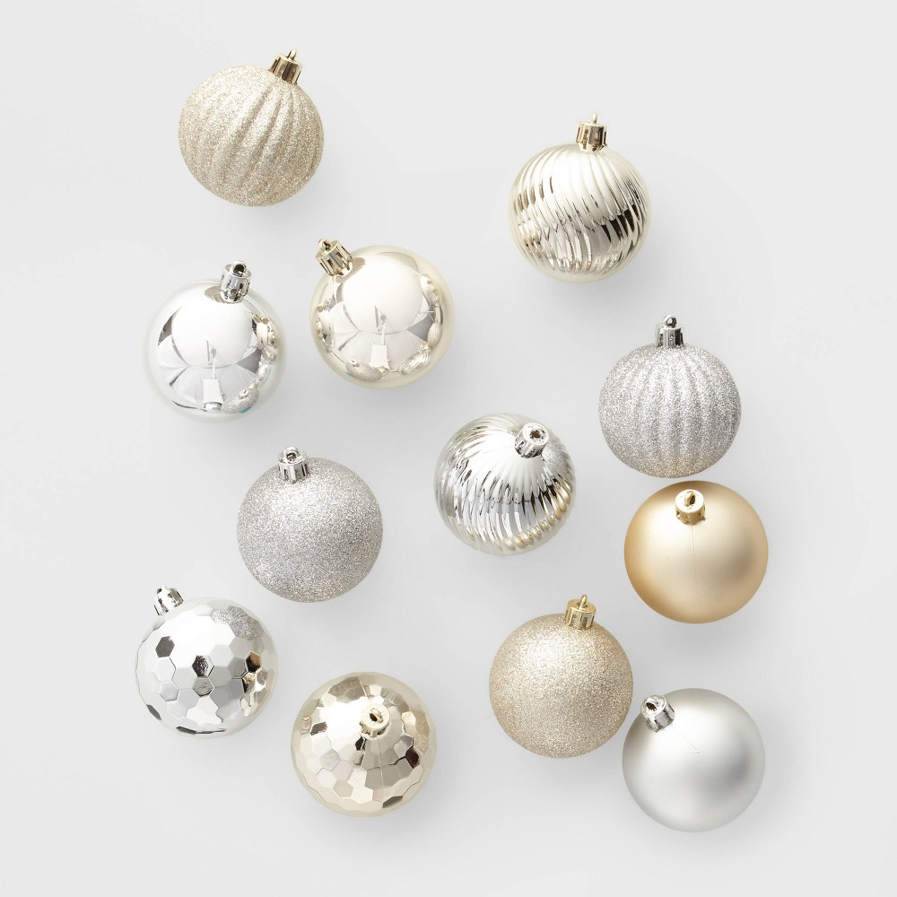 Image of 100ct Christmas Ornament Set Silver and Gold - Wondershop , Gold Silver