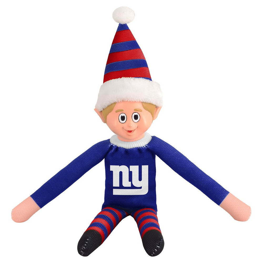 Forever Collectibles New York Giants Holiday Elf Forever Collectibles - NFL Team Elf, New York Giants - This Forever Collectibles Team Elf with provide hours of joy and holiday cheer for all. This officially licensed elf is sporting your favorite team's logo on his sweatshirt and a Santa hat for the season. Start a new tradition this year with your 2015 team elf! Age - 3 and up. Team elf is approximately 14 inches tall.