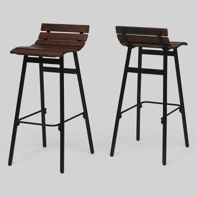 Set of 2 Pepperwood Wooden Barstool - Christopher Knight Home