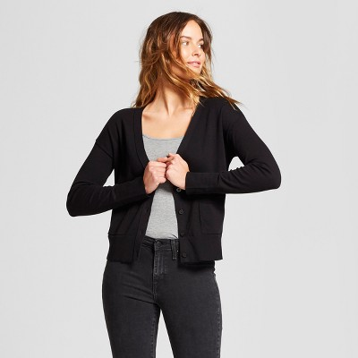 Women's Any Day V-Neck Cardigan Sweater - A New Day™ Black S