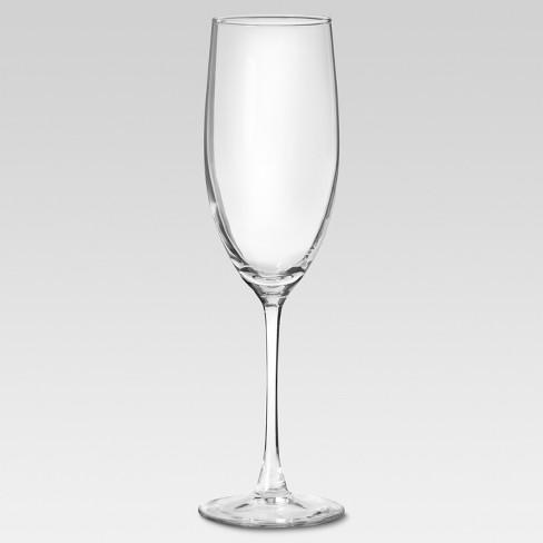8oz 4pk Glass Champagne Flutes - Threshold™ - image 1 of 2