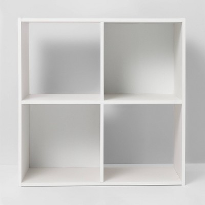 4 Cube Decorative Bookshelf White - Room Essentials™