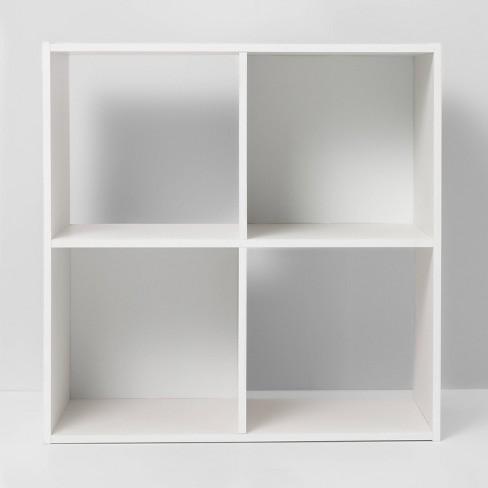 4 Cube Decorative Bookshelf White - Room Essentials™ - image 1 of 4