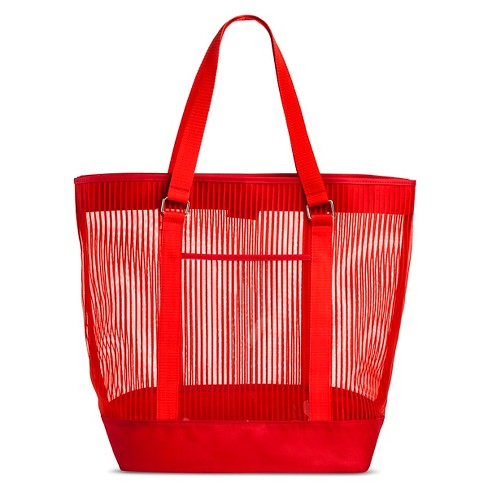 Women's Beach Tote - Red - image 1 of 2