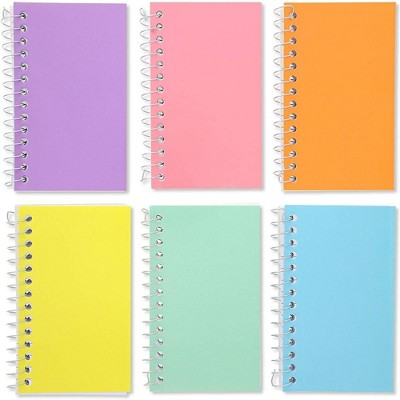 "Paper Junkie 12-Pack Small Spiral Notebooks 3"" x 5"", Lined Pocket Notepad Memo Pad, 6 Pastel Colors"