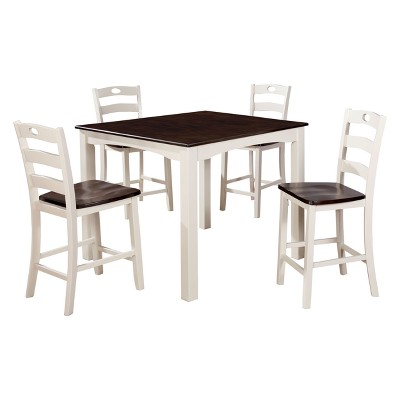 Iohomes Lechuga Transitional Style Dining 5pc Set Black   HOMES: Inside +  Out