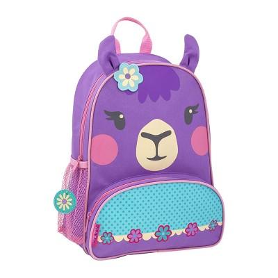 Stephen Joseph Sidekick Kids Toddler Backpack School Bag with Adjustable Straps and Mesh Side Pocket for Boys and Girls, Llama