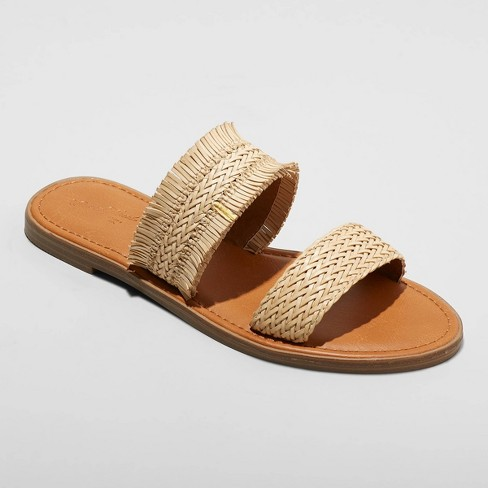 Women's Elizabeth Woven Two Strap Slide Sandals - Universal Thread™ - image 1 of 3