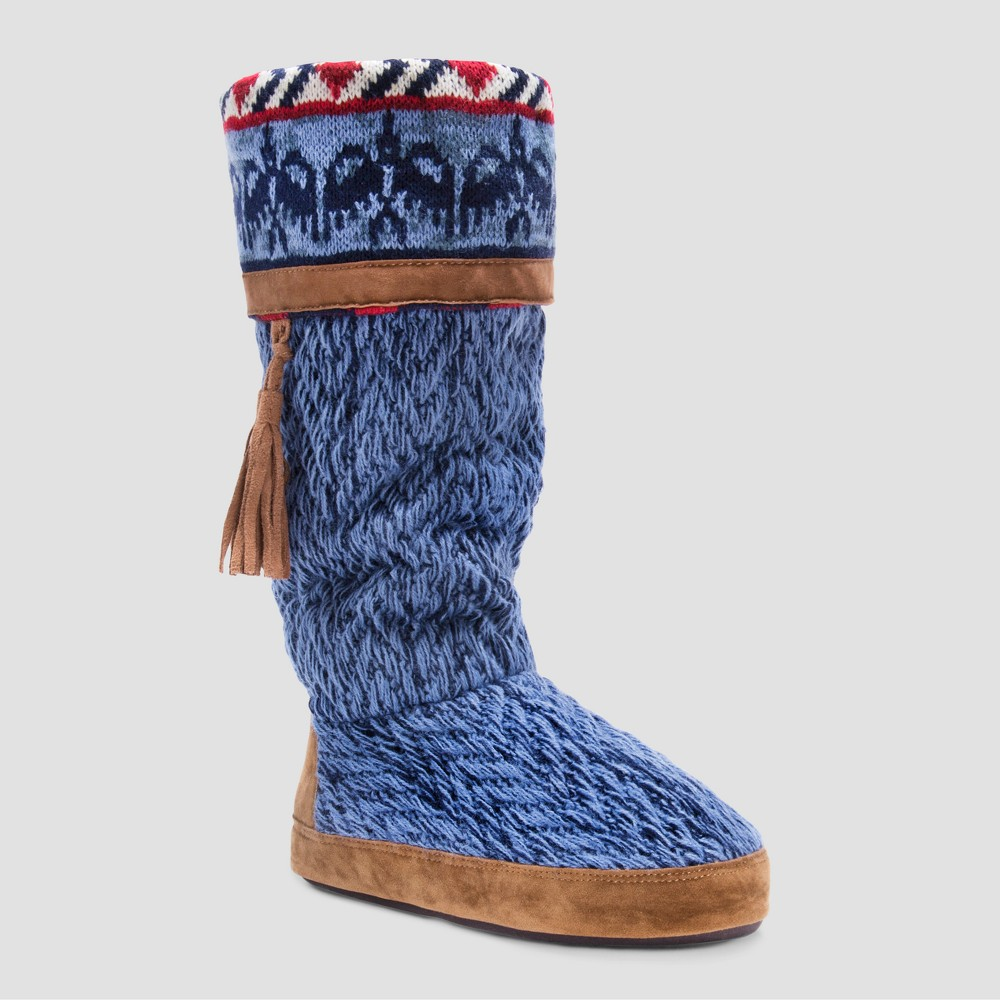 Women's Marisa Muk Luks Bootie Slippers Blue - XL