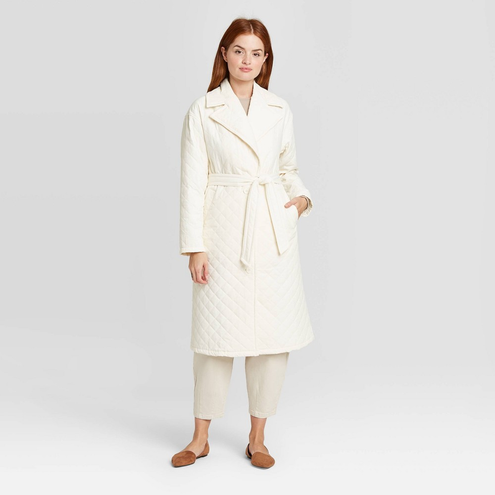 Women 39 S Long Sleeve Quilted Jacket Prologue 8482 Beige S