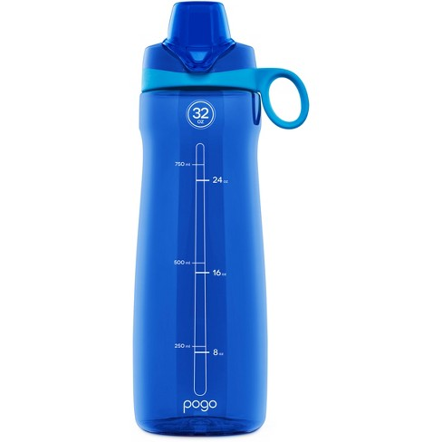 328f1dba16 Pogo Tritan Plastic Water Bottle 2-Pack 32oz, Chug Lid - Gray/Blue : Target