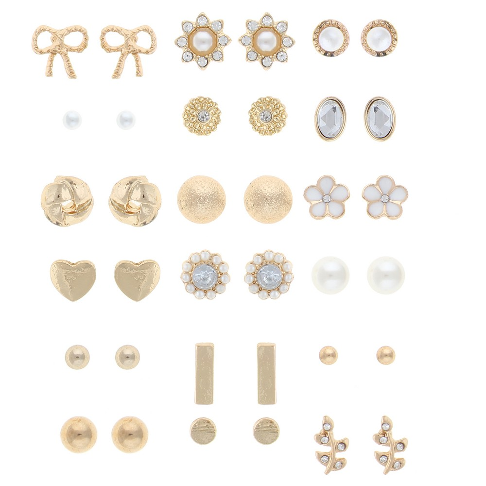 Fashion Earrings White Crystal Accessorize any outfit in your closet with these versatile and stylish acrylic,glass,zinc alloy stud earrings earring. Color: White Crystal. Gender: Female. Pattern: Solid.